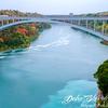Rainbow Bridge(Connecting Niagara Falls, New York, United States and Niagara Falls, Ontario, Canada) from Prospect Point -  Buffalo, New York - USA