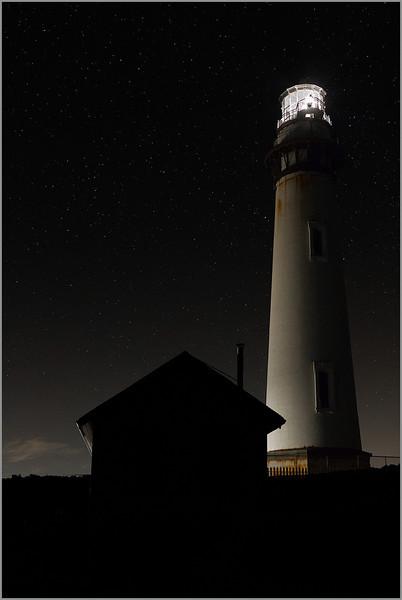 <center><i>Lighthouse, Pigeon Point, 12:22 a.m., September 29, 2013, </i></center>#8025-7D