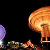 The Wave Swinger and Ferris Wheel @ Gwinnett County Fair - Georgia,  USA