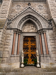 Beautiful entry door to St. Colman's Cathedral