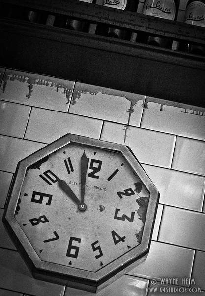 Clock - Black & White Photography by Wayne Heim