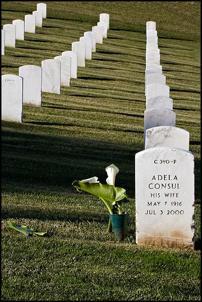 <center><i>Golden Gate National Cemetery (His Wife) </i>, #4350-7D</center>