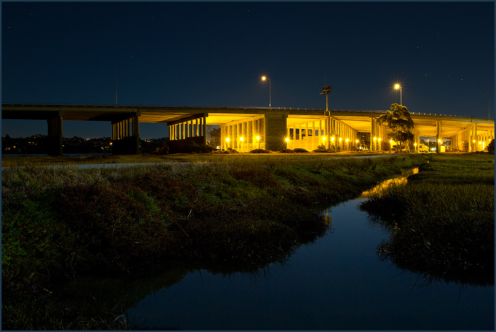 <center><i>Highway 101 Bridge, Bothin Marsh Preserve, MIll Valley, CA,</i></center> #9333-7D