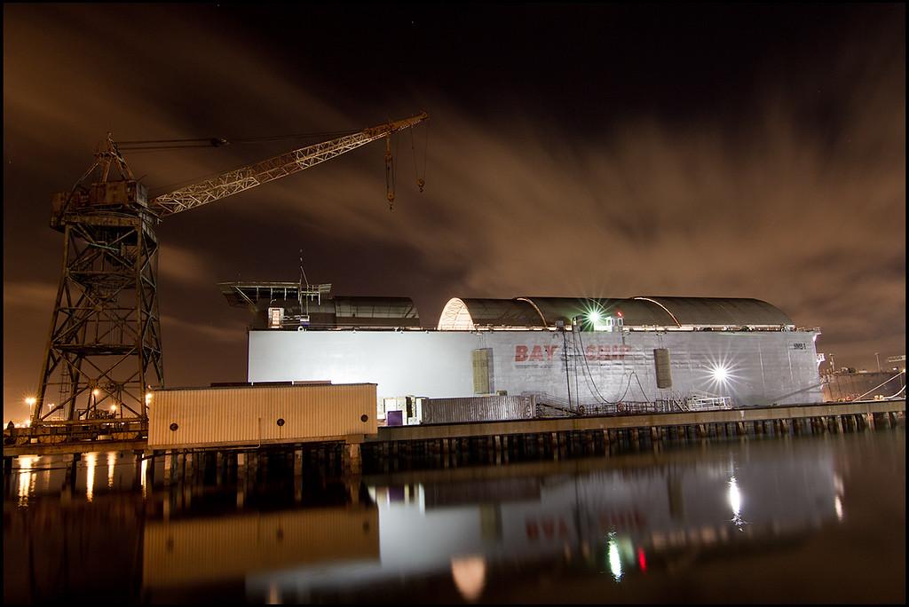 <center><i>Strange Days (Floating Concrete Dry Dock, Alameda), </i></center>#7686-7D