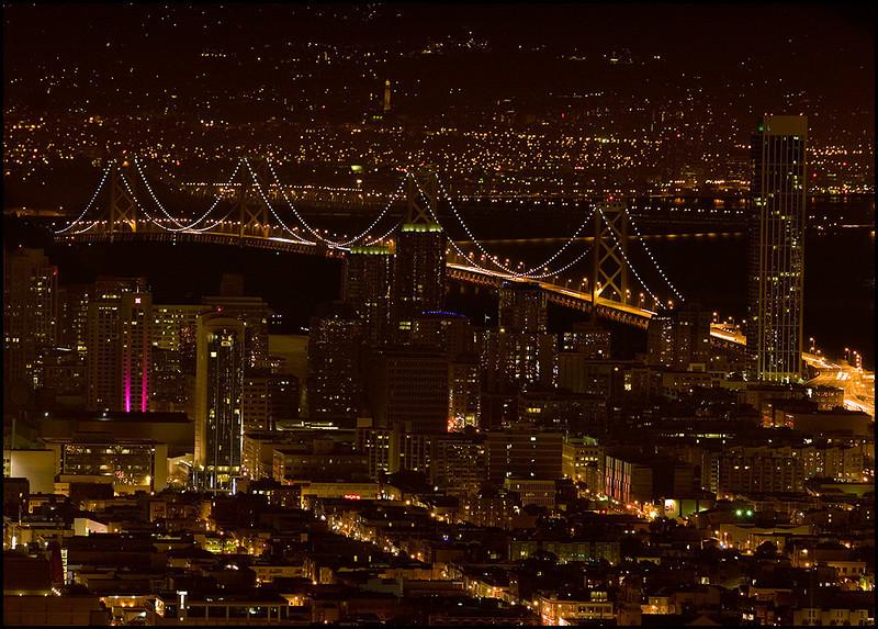 <center><i>San Franciso Bay Bridge from Twin Peaks</i>, #3673</center>