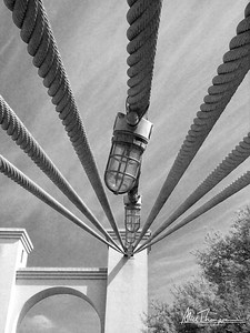 Waco Suspension Bridge detail - Waco, TX