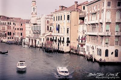Historic Venice City from Realto Bridge @ Venezia - Italy - Dec 2014