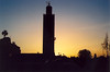 Silhouetted minaret
