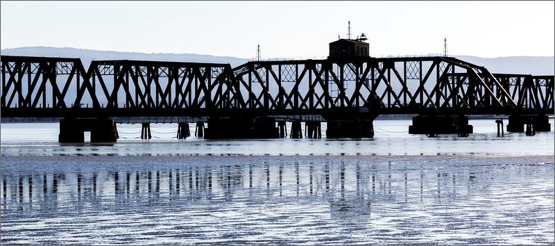 <center><i>Abandoned Trestle, Dumbarton Point,  </i></center>#2150-7DII