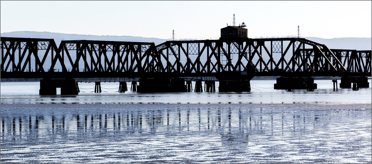 <center><i>Abandoned Trestle, Dumbarton Point,  </i></center>#2150-7DII
