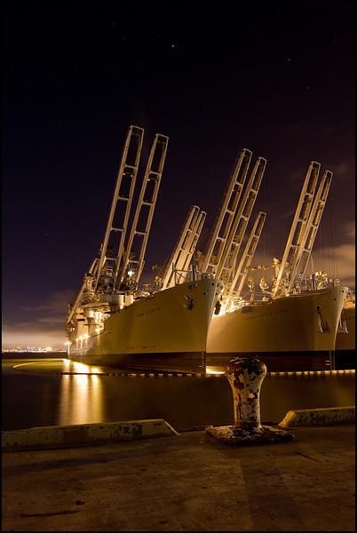 <center><i>Gem State (Moored Ships, United States Naval Air Station, Alameda), </i></center>#7735-7D