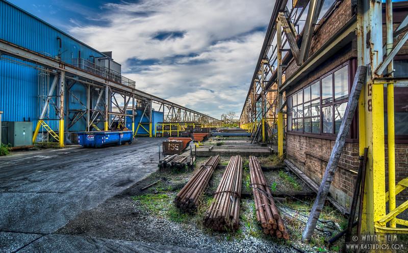 Steel  Yard Blues -- Photography by Wayne Heim