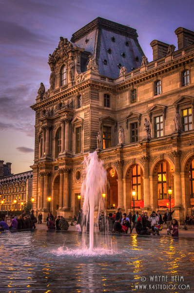 Louvre at Night - Photography by Wayne Heim