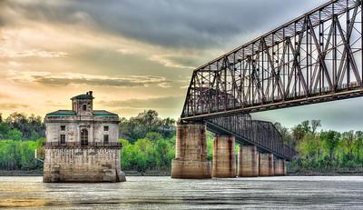 Water Intake Towers - Old Chain of Rocks Bridge
