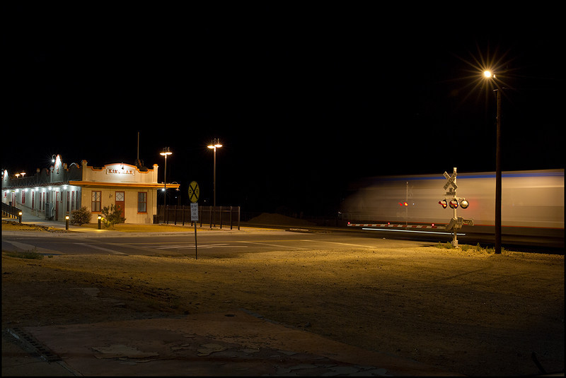 <center><i>Kingman, AZ, Amtrak Depot, 1:29:29am</i></center>#5039-7D