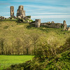 Corfe Castle (Portrait)