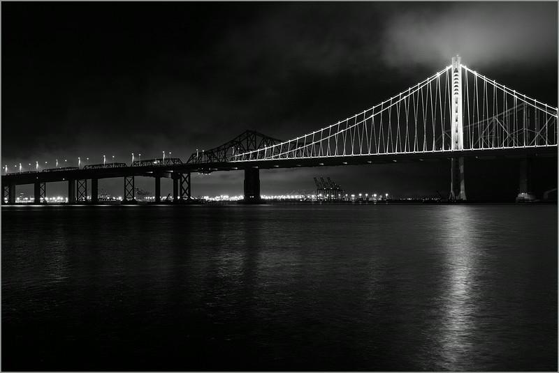 <center><i>San Francisco/Oakland Bay Bridge, from Treasure Island, </i></center>#3983-7D