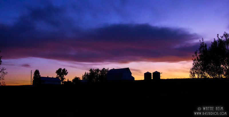 Sunset at the Farm.  Photography by Wayne Heim