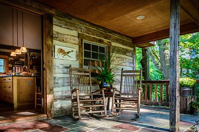 Porch of 1792 Summer Kitchen and interior.