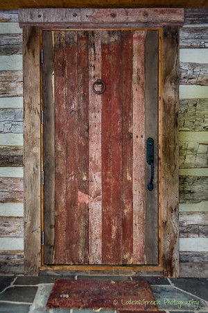 Entrance to Jean's 1792 Cabin Summer Kitchen