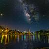 Milky Way over Echo Park Lake.