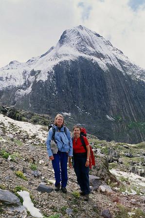 Hiking in Switzerland, peak of Gries Horn