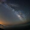 Milky Way from Twin Bush with trafic trails.(fisheye)