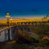 Colorado Street Bridge with sunset.