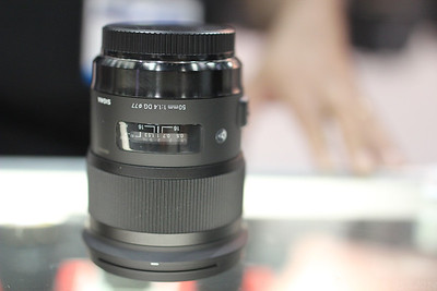 A photo of the Sigma 50mm F1.4 Art lens, taken with the 35mm F1.4 Art lens.