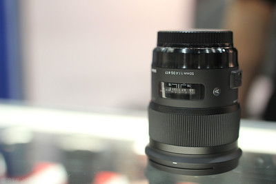 Another photo of the Sigma 50mm F1.4 Art lens, taken with the 35mm F1.4 Art lens.
