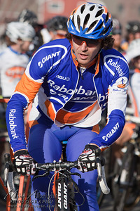 Bend, OR resident and Olympic Cycling Team member Adam Craig (Giant/Rabobank) rolls up to the start line at the USA Cycling Cyclo-Cross Nationals in Bend Oregon on December 12, 2010.