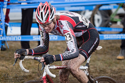 Redline Bicycles rider Ryan Iddings (#23) hammers through a slow, muddy grass section at the USA Cycling Cyclo-Cross Nationals in Bend Oregon on December 12, 2010.  Ryan finished 34th overall in the Elite Men's category.