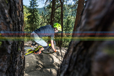 The trails of Ashland are great to ride but there are not a lot of scenic vistas and viewopints for taking photos so you have to take advantage of them any chance you get.  Scott Chapin rides one of the switchback corners on the BTI trail on his way to victory.