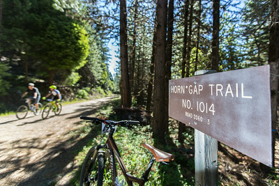 The top of stage one on the Horn Gap trail