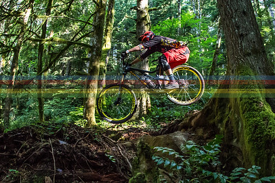 Incycle rider Jon Buckell hits the light just right on the opening stage of the weekend.