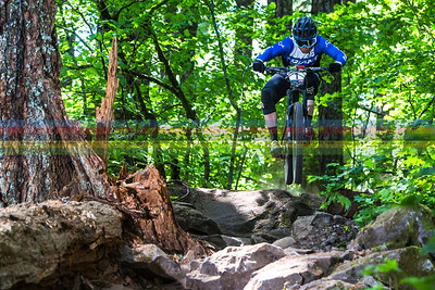 Josh Carlsonjumping into the rock garden on the way to 2nd place for the weekend.