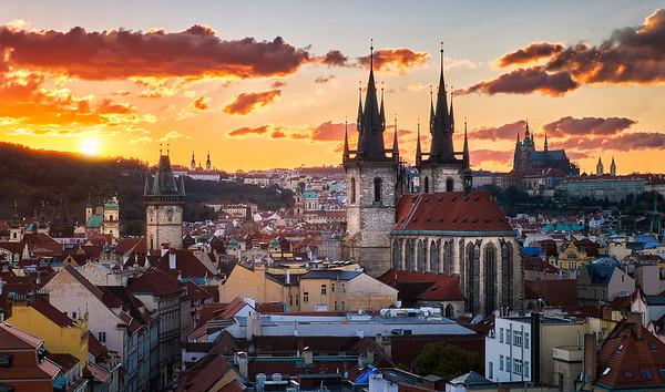 Fire Over Prague