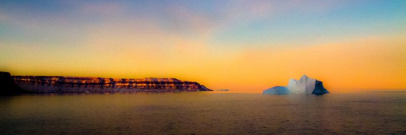 Foulke Fjiord, Greenland, Sunrise