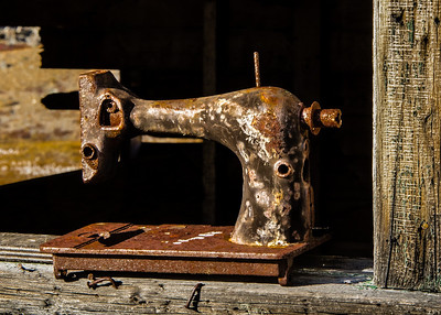 Dundas Harbour, Sewing Machine in a Window