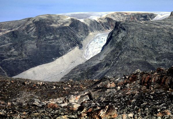 Retreating glacier in the interior of Nuqssuaq
