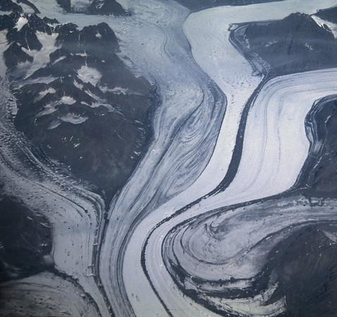 Sortebrae glacier in East Greenland, Blosseville Kyst