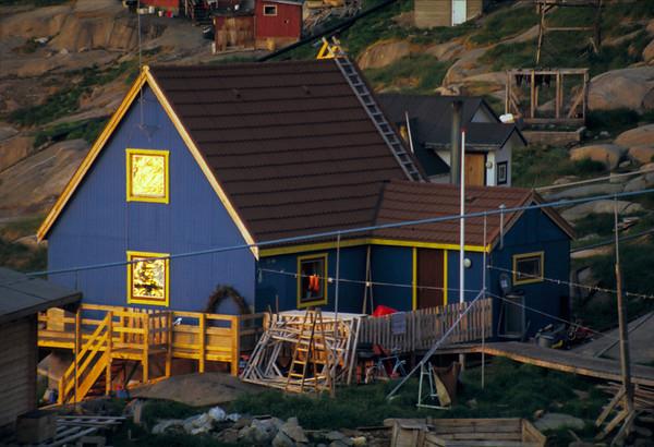 Ilulissat house, midnight