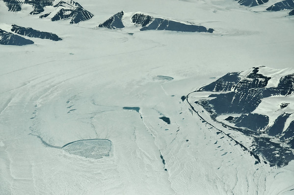 Inland ice outflow of Christian den IV Glacier, Kong Christian den IX Land, 69° N, 30° W