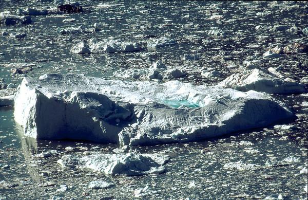 Ice berg with melting pond, Sermilikfjord