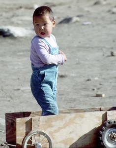 Easter Greenlandic boy, Tiniteqilaaq, Greenland