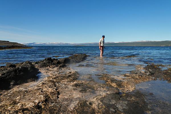 Bathing at Reykjanes, Northwestfjords