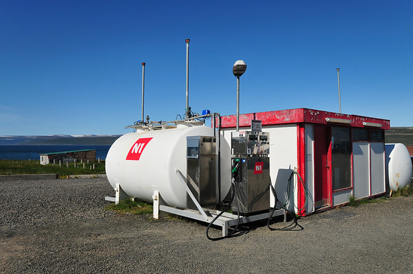 Remote filling station, Reykjanes Northwest Fjords
