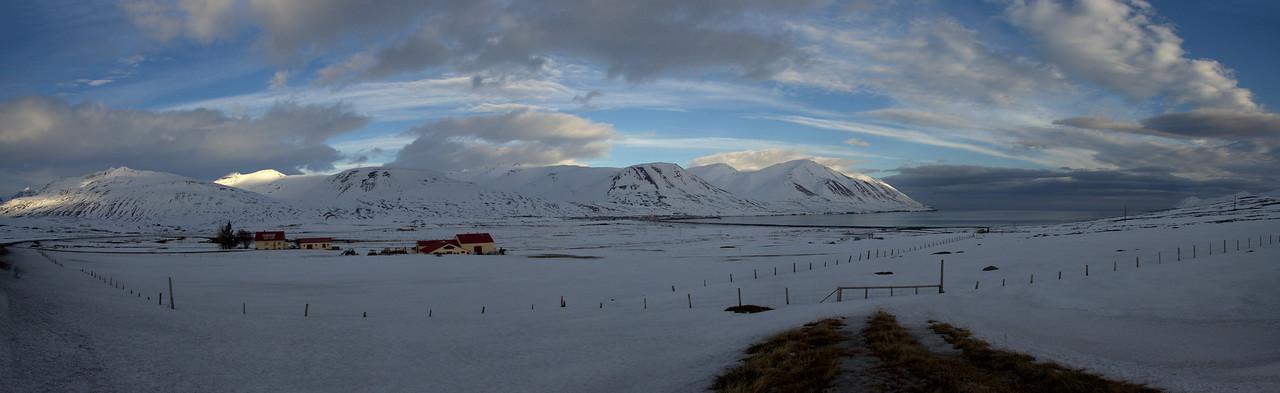 South of Dalvik: Svarfadardalsa, Dalvik, Eyjarfjördur