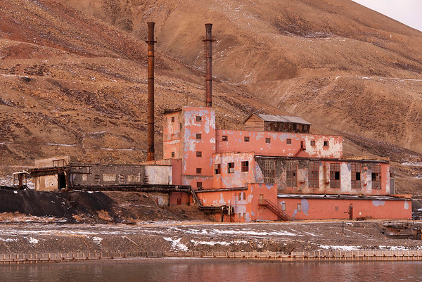 Pyramiden, abandoned Russian coal mine settlement, Spitsbergen Pyramiden's remainings