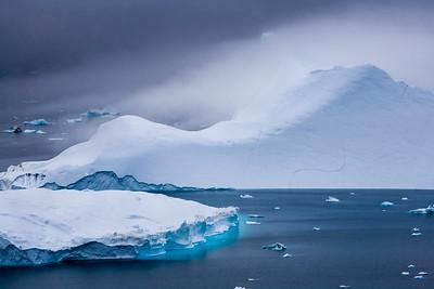Icebergs on the Sermilik Fjord.
